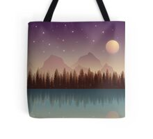 Relaxing Forest at Night Tote Bag