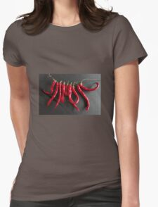 Dried chillies Womens Fitted T-Shirt