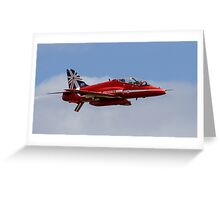 Red Arrows Hawk T1 Greeting Card