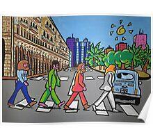 The Beatles in via Roma Cagliari PoscArt Poster
