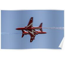 Red Arrows Synchro Cross Poster