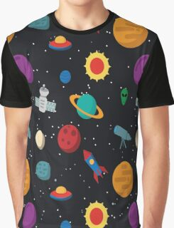 Funny Space Pattern Graphic T-Shirt