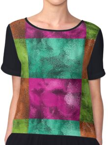 Faux Glitter Jewel Tone Chiffon Top