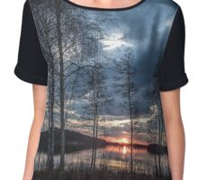 NIGHT SKY Chiffon Top