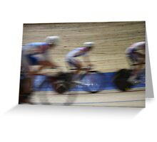 Bicycle Race Velodrome Greeting Card