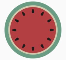 Watermelon Clock - Summer Fruit by CorrieJacobs
