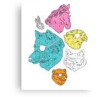 Special design T-shirt,ANIMALS WITH EYEPATCHES! YES! Canvas Print