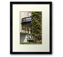 Gardening Delights - Wisteria Aloe Vera And A Stained Glass Canopy - Left Framed Print