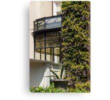 Gardening Delights - Wisteria Aloe Vera And A Stained Glass Canopy - Left Canvas Print
