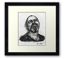 Self ( charcoal ) Framed Print