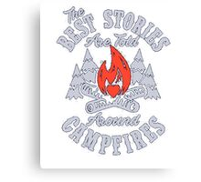 Special design T-shirt,CAMPFIRE STORIES Canvas Print