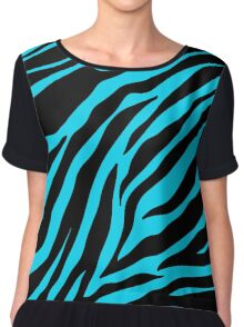 Zebra Pattern (blue) Chiffon Top