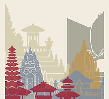 Bali skyline poster by paulrommer