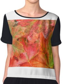 The Colours of Autumn Chiffon Top
