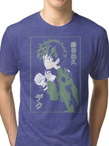 Midoriya Izuku Flat Color Tri-blend T-Shirt