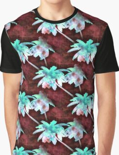 Coconut Palm Trees Red Skies Morning Graphic T-Shirt