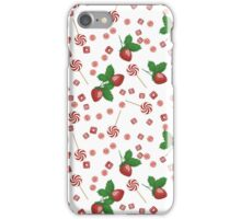 Strawberry lollipops, candy and chewing gum seamless pattern background texture iPhone Case/Skin