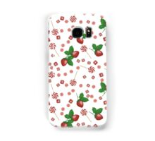 Strawberry lollipops, candy and chewing gum seamless pattern background texture Samsung Galaxy Case/Skin