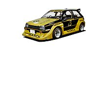 Nissan March Super Turbo Racer Photographic Print
