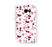 Cherry lollipops, candy and chewing gum seamless pattern background texture Samsung Galaxy Case/Skin