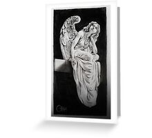 Daydreaming angel Greeting Card