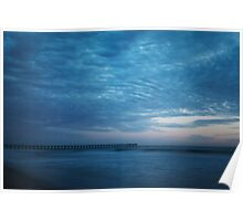 Moody Blue, Beach, Photography, Sunset, California Poster