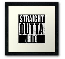 Straight Outta Johto Framed Print