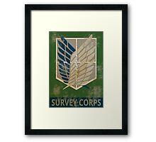 Survey Corps Poster Framed Print