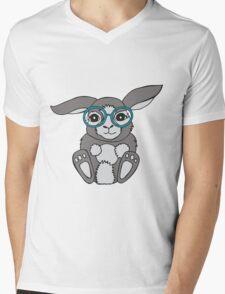Bunny in specs Mens V-Neck T-Shirt
