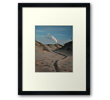 Sand dune, Beach, Landscape, Photography, Nature, Framed Print