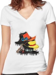 Hats Brothers Women's Fitted V-Neck T-Shirt