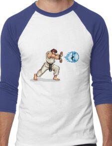 Hadouken! 8-bit Ryu. Men's Baseball ¾ T-Shirt