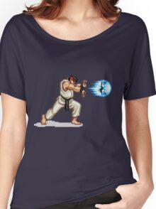 Hadouken! 8-bit Ryu. Women's Relaxed Fit T-Shirt