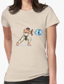 Hadouken! 8-bit Ryu. Womens Fitted T-Shirt