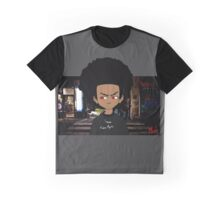 Afro Kid At Midnight Street - Moody. Graphic T-Shirt