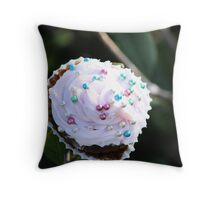 Surreal Cupcake Tree Throw Pillow
