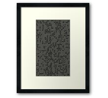 Tattered Silver Medieval Chainmail Armour Texture Background Framed Print