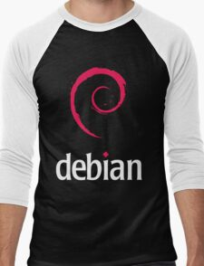 Debian Linux Tees Men's Baseball ¾ T-Shirt