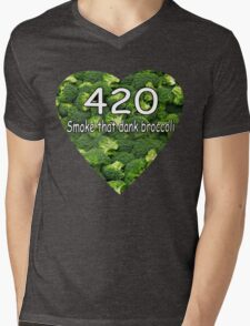 Smoke that Broccoli. Mens V-Neck T-Shirt