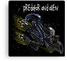 Predator and Alien Canvas Print