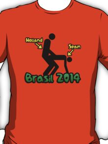 Holland vs Spain Brasil world cup football 2014 T-Shirt