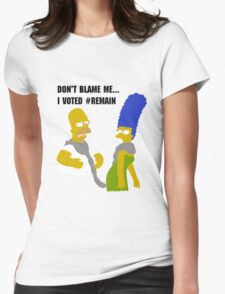 Don't Blame Me Womens Fitted T-Shirt