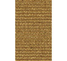 Wheat Color Basket Weave Pattern Texture Background Photographic Print