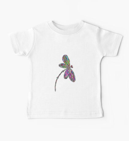 Neon Dragonfly  Baby Tee