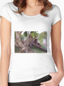 Old Equipment on Display Women's Fitted Scoop T-Shirt