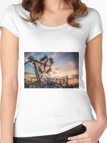 Town moor hoppings 2016 Women's Fitted Scoop T-Shirt