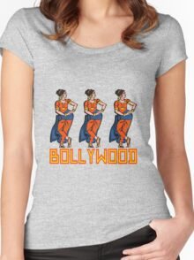 BOLLYWOOD Women's Fitted Scoop T-Shirt