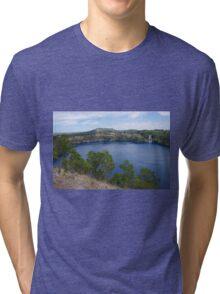 Blue Lake, Mt Gambier Tri-blend T-Shirt