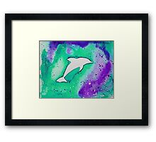 Dolphin in green Framed Print