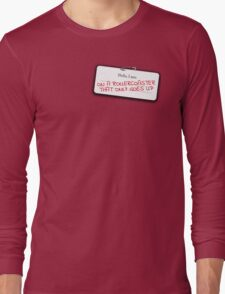 Augustus Waters's name tag Long Sleeve T-Shirt